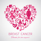 Symbol of Breast Cancer Awareness Royalty Free Stock Photos