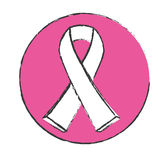 Symbol breast cancer ribon image. Design icon Royalty Free Stock Photos