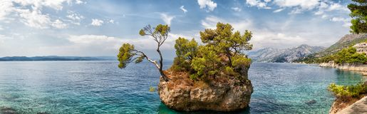 Brela stone, Croatia. panoramic view Stock Images