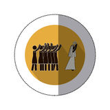 Symbol bride pulling the bouquet icon. Illustration Stock Photos