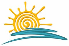 Symbol of bright sun. Symbol of the bright summer sun royalty free illustration
