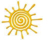 Symbol of bright sun. Symbol of the bright summer sun stock illustration