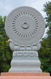Symbol of buddhism. The wheel of the law Royalty Free Stock Photo
