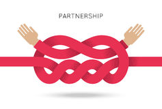 Symbol of business cooperation and partnership Stock Images