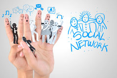 symbol of business social network Stock Photo