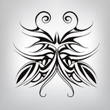 Symbol butterfly tattoo. Vector illustration. Black and white tattoo of a butterfly Stock Images