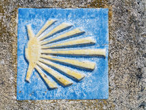 Symbol of the camino de santiago Stock Images