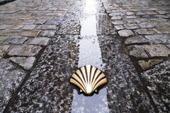 Symbol of the camino de santiago. As it passes through burgos, Spain Royalty Free Stock Photo