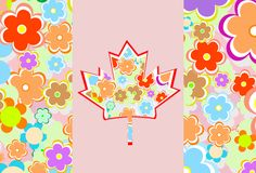 Symbol of Canada from maple leaves on a background Royalty Free Stock Photography