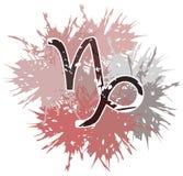 Symbol capricorn zodiaka znak robić z punktami Obraz Royalty Free