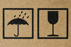The Symbol on Cardboard. Close-up of The Symbol on Cardboard Royalty Free Stock Photography