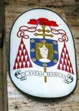 Symbol cardinal solides solubles Vincenzo E Anastasio Church Trevi Rome Italy Images libres de droits