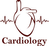 Symbol of cardiology Stock Photography