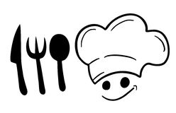 Symbol chef Royalty Free Stock Photo