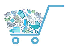 Symbol of the children's goods Stock Photography