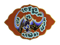 Symbol of  chinese bat on white background Royalty Free Stock Photos