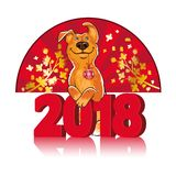 Symbol of the Chinese New Year 2018. Year of the dog. Design for stock illustration