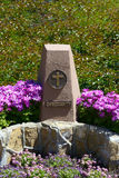 Symbol of Christianity in the Park of five religions in Los Ange Royalty Free Stock Photos