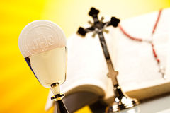 Symbol christianity religion, bright background, saturated conce Royalty Free Stock Photo
