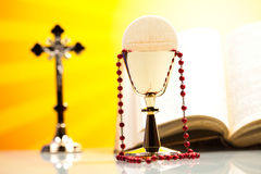 Symbol christianity religion, bright background, saturated conce Stock Photography