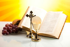 Symbol christianity religion, bright background, saturated conce Stock Photo