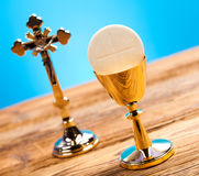 Symbol christianity religion, bright background, saturated conce. Pt Stock Photo