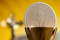 Symbol christianity religion, communion background. Eucharist, sacrament of communion background royalty free stock images