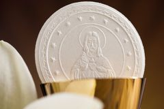 Symbol christianity religion, communion background. Eucharist, sacrament of communion background royalty free stock photo