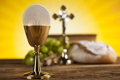 Symbol christianity religion, communion background. Eucharist, sacrament of communion background stock photography