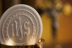 Symbol christianity religion, communion background. Eucharist, sacrament of communion background royalty free stock photos