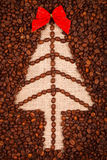 Symbol of Christmas tree on burlap Stock Photo