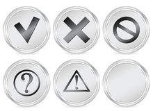 Symbol circle icon Stock Image