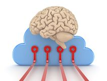 Symbol of cloud computing Stock Photos