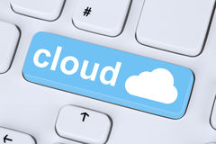 Symbol cloud computing online on internet cyberspace Royalty Free Stock Images