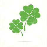 Symbol of clover with four petals Stock Images