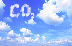 Symbol CO2 from clouds Stock Images
