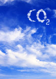 Symbol CO2 from clouds Royalty Free Stock Photos