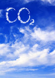 Symbol CO2 from clouds Stock Image