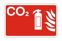 symbol Co2 Fire Safety Symbol Sign on white background,vector illustration royalty free illustration