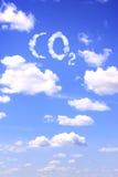 Symbol CO2 von den Wolken Stockbilder