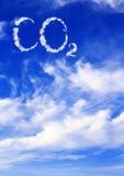 Symbol CO2 von den Wolken Stockbild
