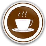 Symbol coffee. Cup brown represented Stock Image