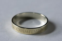 Symbol of Commitment. Wedding rings - symbols on unity and fidelity stock images