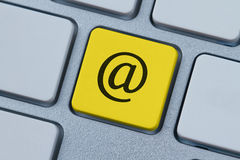 At symbol on the computer key Stock Images