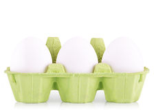 Symbol Concept white egg isolated in box Stock Image