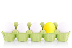 Symbol Concept white egg isolated in box Royalty Free Stock Photo