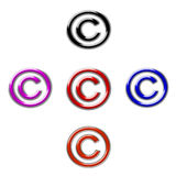 Symbol copyright Royalty Free Stock Images
