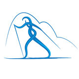 Symbol of cross-country skiing Royalty Free Stock Image