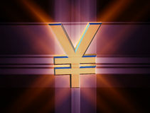 Symbol currency yen Stock Image