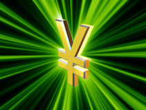 Symbol currency yen Royalty Free Stock Photos
